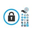 Lock Keyhole Flat Icon With Bonus vector image