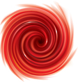Spiral liquid surface red color vector image