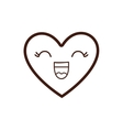 kawaii happy heart icon vector image