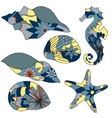 Marine elements vector image vector image