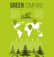 green company brochure template vector image vector image