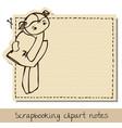 scrapbook funny notepaper for kids vector image