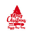 christmas text quote lettering tree vector image