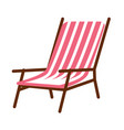 simple striped lounge vector image