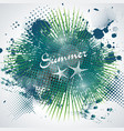 summer time sign on abstract blot spot background vector image