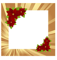 christmas frame gold 01 vector image vector image