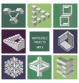 Impossible objects Set 2 vector image vector image