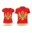 Flag shirt design of Montenegro vector image