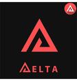 Delta letter logo vector image vector image