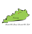 State of Kentucky vector image