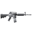 m16 gun vector image vector image
