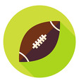 American Rugby Ball Circle Icon vector image