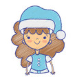 beauty girl celebrating merry christmas vector image