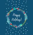 card happy holidays vector image