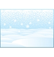 Clean Winter Landscape with Frozen Lake vector image