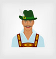 man in traditional bavarian national costume vector image