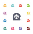 metre flat icons set vector image