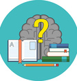 Searching for answers learning concept Flat design vector image