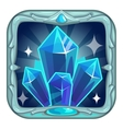 Fairy cartoon square crystals app icon vector image