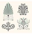 Set of antique decorative elements vector image