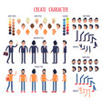 create character set of business and casual style vector image