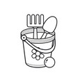 childrens toy bucket vector image