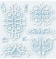 Set of vintage baroque border vector image vector image