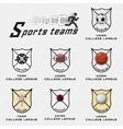 Cricket volleyball football basketball squash vector image