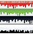 Seamless Drip Liquid Banner Ready for Your Text vector image vector image