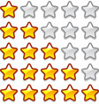 Game web rating stars set vector image