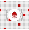 restaurant menu design background vector image