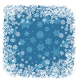 snowflakes frame blue vector image