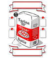 Vintage Hand Drawn Advertising Flour Pizza Page vector image