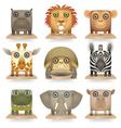 Wild animals icon set vector image vector image