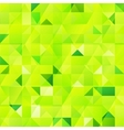 Green abstract triangles seamless pattern vector image vector image