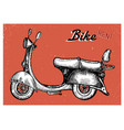 retro scooter sign for bike rent vector image
