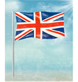 Retro background with flag of the United Kingdom vector image