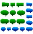speech bubbles matt vector image