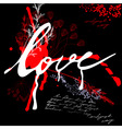 inscription love on grunge background vector image