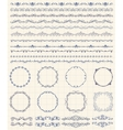 Hand Sketched Borders and Frames Dividers Swirls vector image