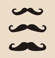 Mustache vintage set vector image