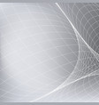 abstract grey background with network vector image