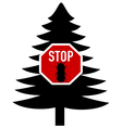 bark-beetle stop sign vector image