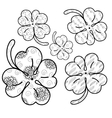 Clover leaves adult coloring page 5 seamless vector image