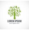 Green tree logo design template vector image