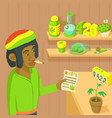 rastafarian marijuana concept cartoon style vector image