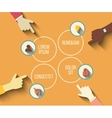social meeting concept in modern flat vector image