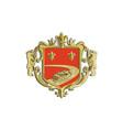 Steamboat Fleur De Lis Coat of Arms Retro vector image
