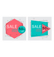 flat geometric bannerstrendy abstract background vector image