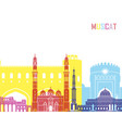 Muscat skyline pop vector image
